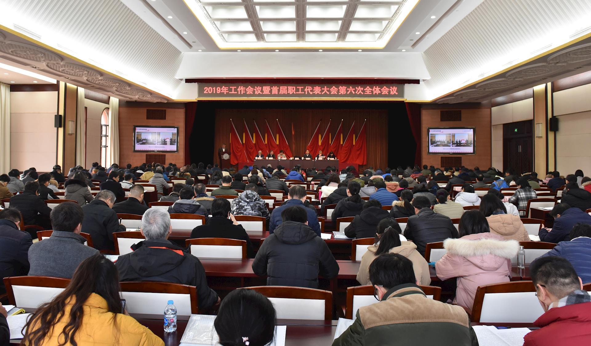 我院召开2019年工作会议暨首届职工代表大会第六次全体会议